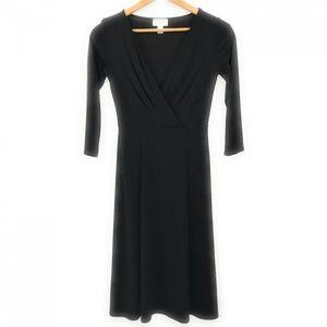 Loft Womens Midi Black Dress, Size 4